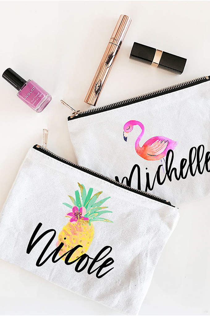 Personalized Tropical Beach Canvas Cosmetic Bags - Tropical Beach Canvas Cosmetic bags are a unique