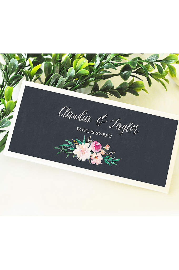 Personalized Floral Garden Candy Wrapper Covers - These Personalized Floral Garden Candy Wrapper Covers can