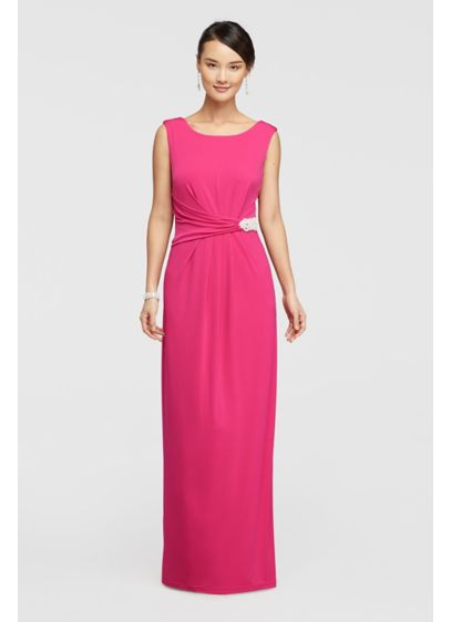 Long Sheath Cap Sleeves Dress - Ellen Tracy