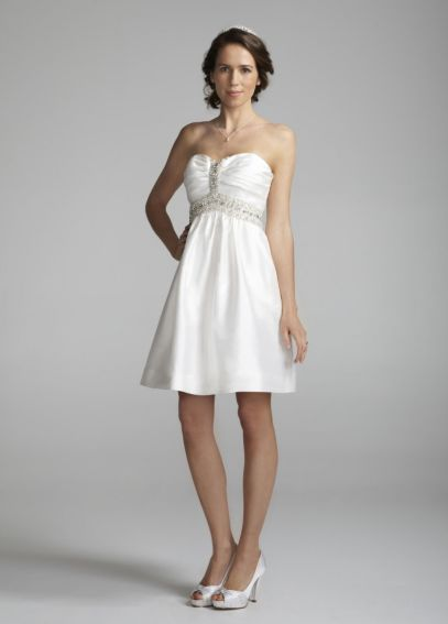 Short Embellished Strapless Dress with Pleating EJ2M2715
