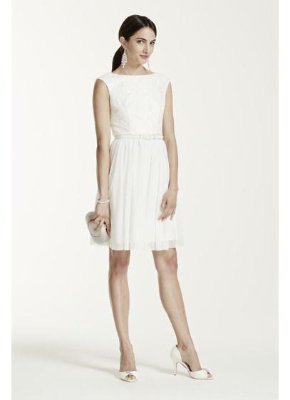 Short Sheath Country Wedding Dress - DB Studio