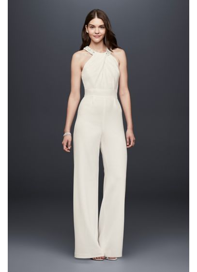 Long Jumpsuit Modern Chic Wedding Dress - DB Studio