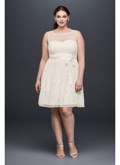 Short A-Line Beach Wedding Dress - DB Studio