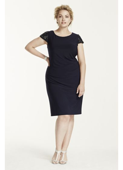 Long Sheath Cap Sleeves Mother and Special Guest Dress - Eliza J