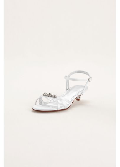 Dyeable Low Heel Sandal with Rhinestones ELENA