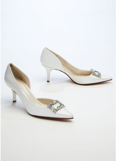 Ivory (Caparros D'Orsay Pump with Rhinestone Ornament)