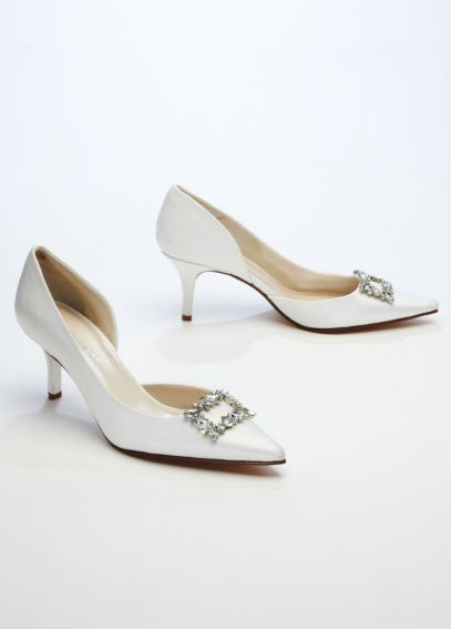Caparros D'Orsay Pump with Rhinestone Ornament ELIZA