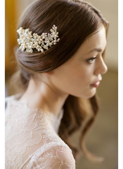 Freshwater Pearl Cluster Floral Comb - Wedding Accessories