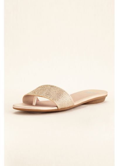 Simply Pelle Embellished Slide Sandals ELLE