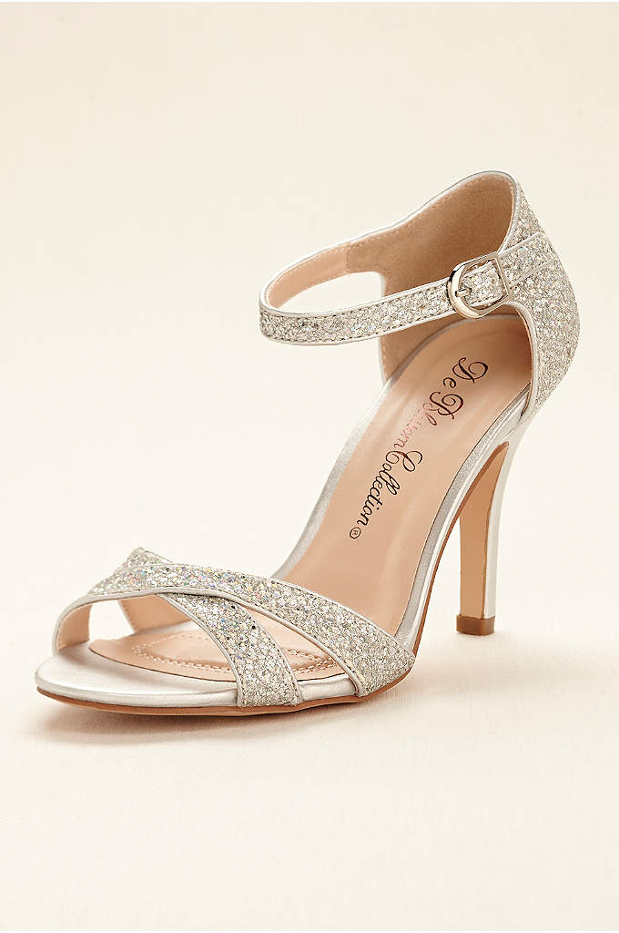 Glitter Sandal with Ankle Strap