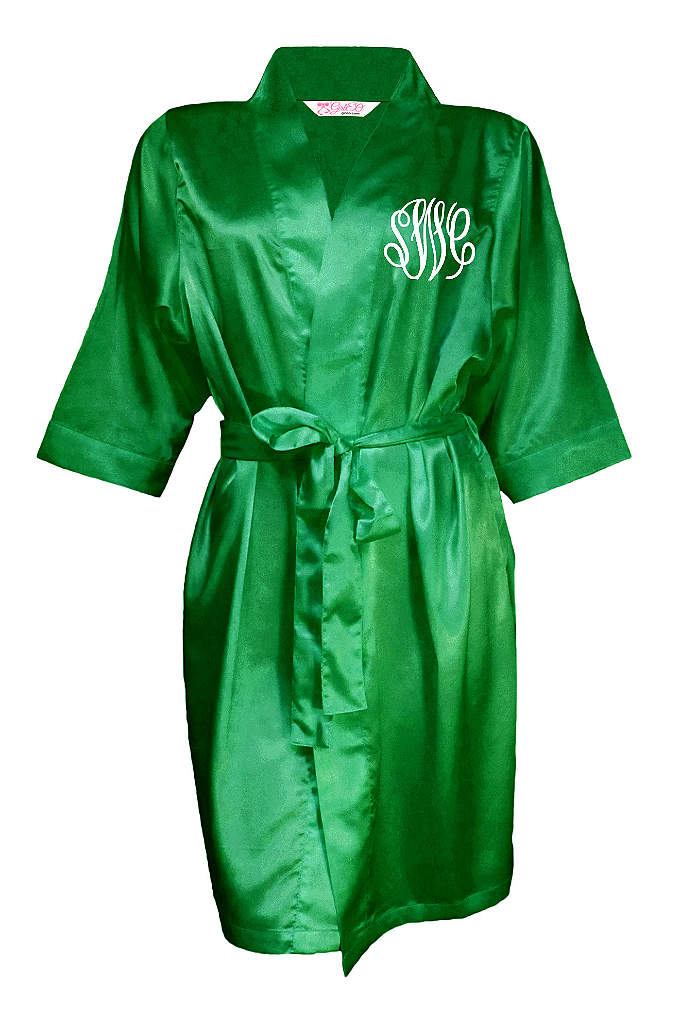 Personalized Embroidered Monogram Satin Robe - Wrap yourself and your loved ones in luxury