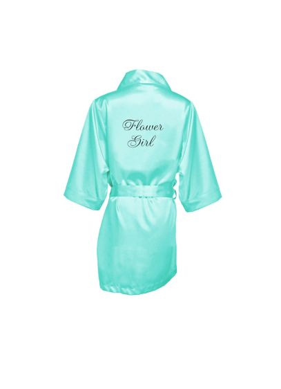 Embroidered Flower Girl Satin Robe - Wedding Gifts & Decorations