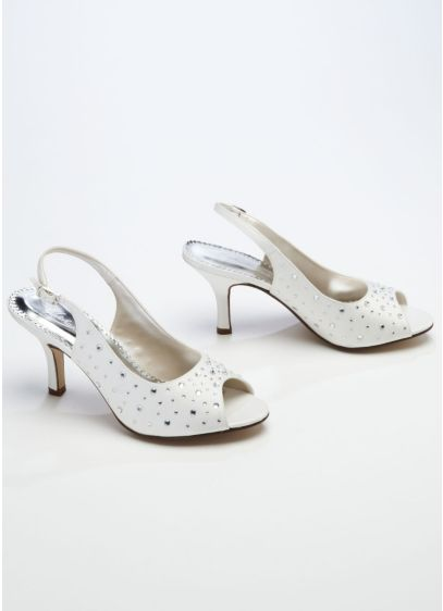 Sling Back Peep Toe with Crystal Detail - Wedding Accessories