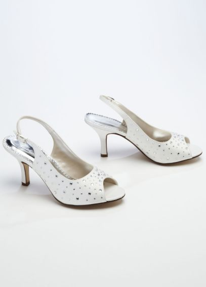 Sling Back Peep Toe with Crystal Detail EMMA