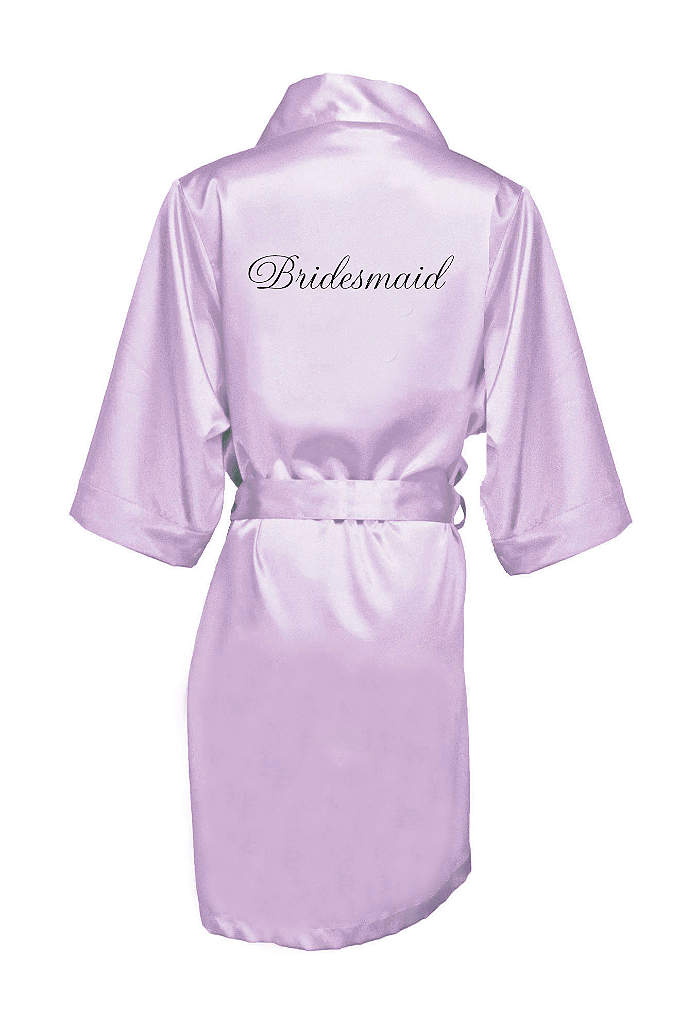Embroidered Bridesmaid Satin Robe - Wrap your bridesmaids in luxury in this gorgeous