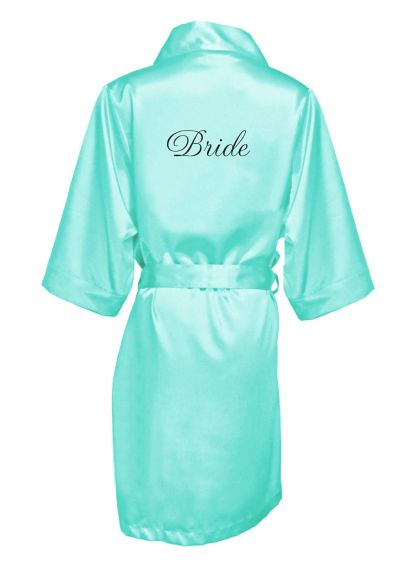Embroidered Bride Satin Robe EMRB-BRIDE