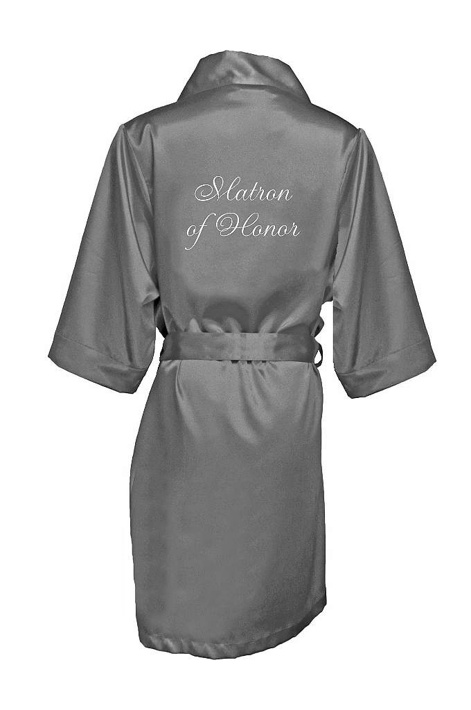 Embroidered Matron of Honor Satin Robe - Wrap your Matron of Honor in luxury in