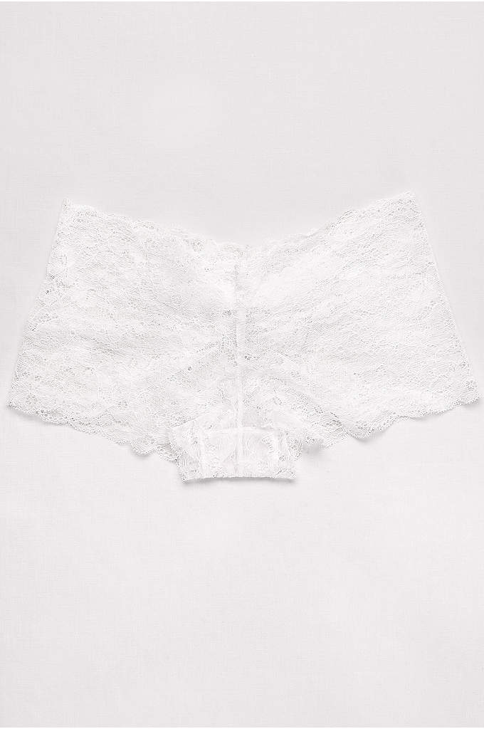 Lace Cheeky Brief with Bow - A back bow is a cute detail on