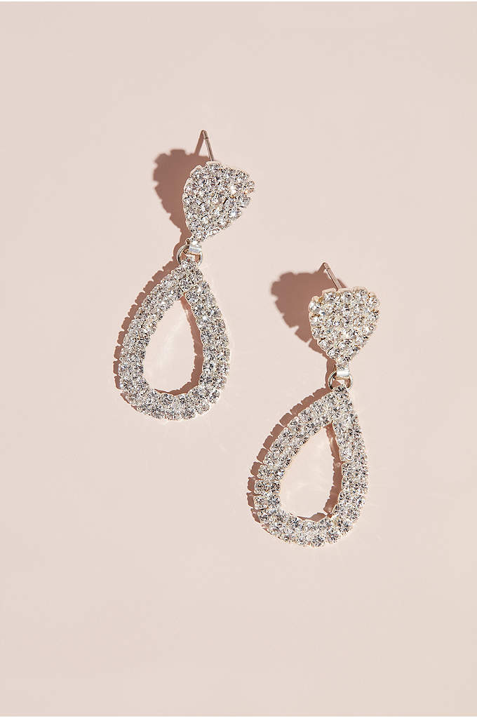 Bold Teardrop Crystal Earrings - Great for making a statement, these earrings are