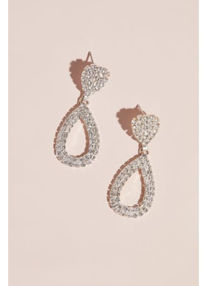 Bold Teardrop Crystal Earrings - Wedding Accessories
