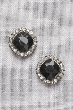Black Crystal Pave Post Earrings | David's Bridal | Tuggl