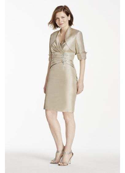 Short Sheath Jacket Cocktail and Party Dress - Emma Street