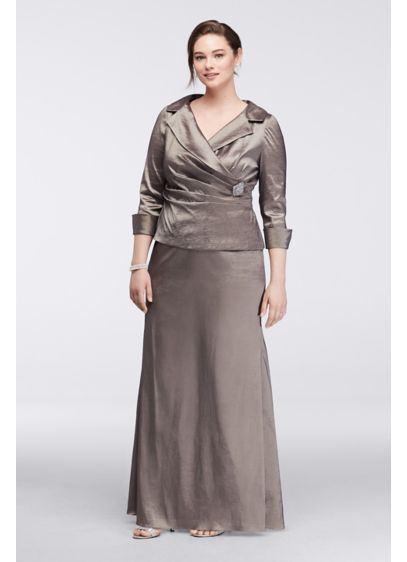 Long Sheath 3/4 Sleeves Mother and Special Guest Dress - LM Collection