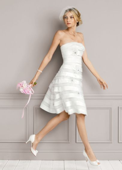 Short Dress Featuring 3D Floral Appliques ES9895