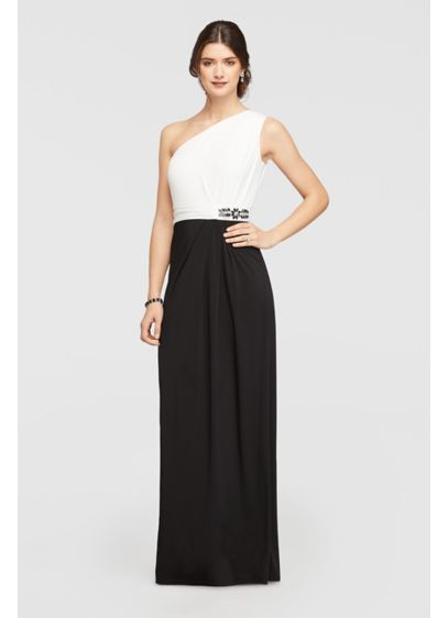 Long Sheath One Shoulder Mother and Special Guest Dress - Ellen Tracy