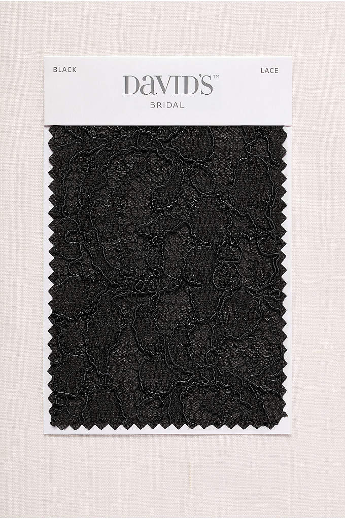 Black Fabric Swatch - Available in all of David's Bridal's exclusive colors,
