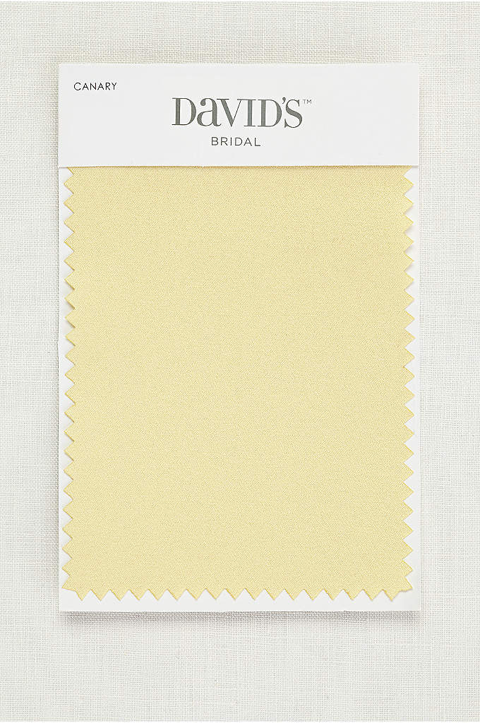 Canary Fabric Swatch - Available in all of David's Bridal's exclusive colors,