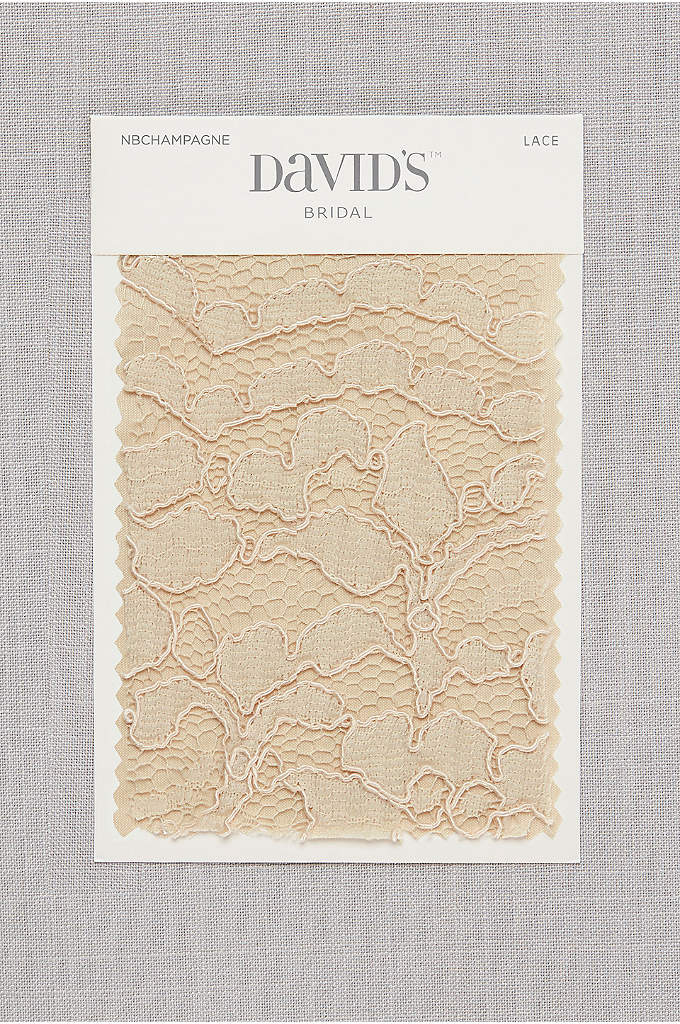 Champagne Fabric Swatch - Available in all of David's Bridal's exclusive colors,