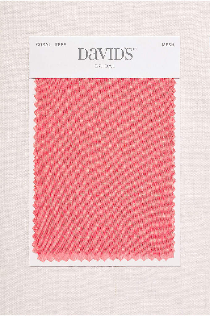 Coral Reef Fabric Swatch - Available in all of David's Bridal's exclusive colors,