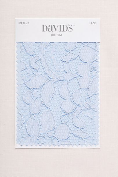 Ice Blue Fabric Swatch Davids Bridal