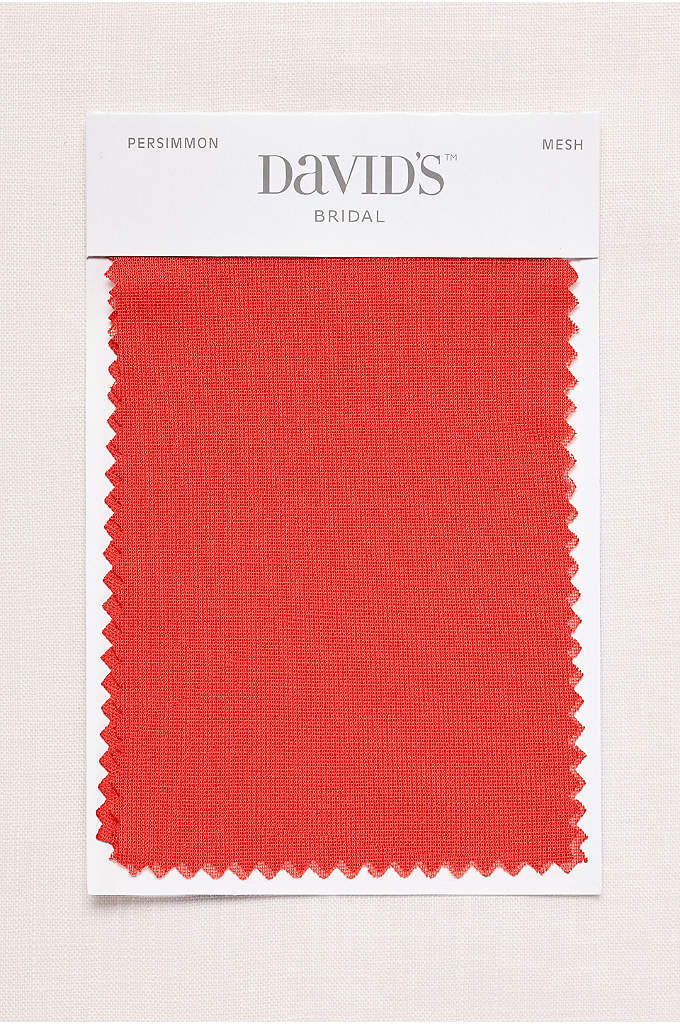 Persimmon Fabric Swatch - Available in all of David's Bridal's exclusive colors,