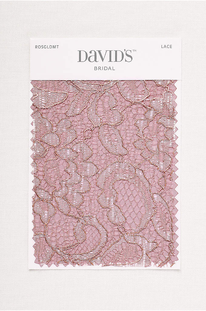 Rose Gold Metallic Fabric Swatch - Available in all of David's Bridal's exclusive colors,