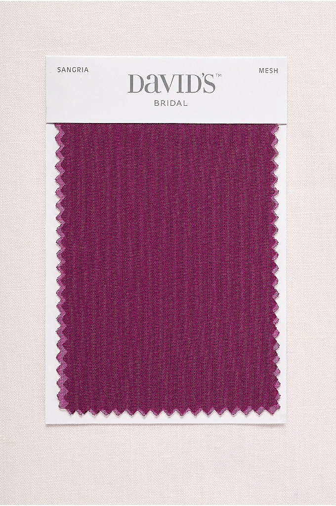 Sangria Fabric Swatch - Available in all of David's Bridal's exclusive colors,