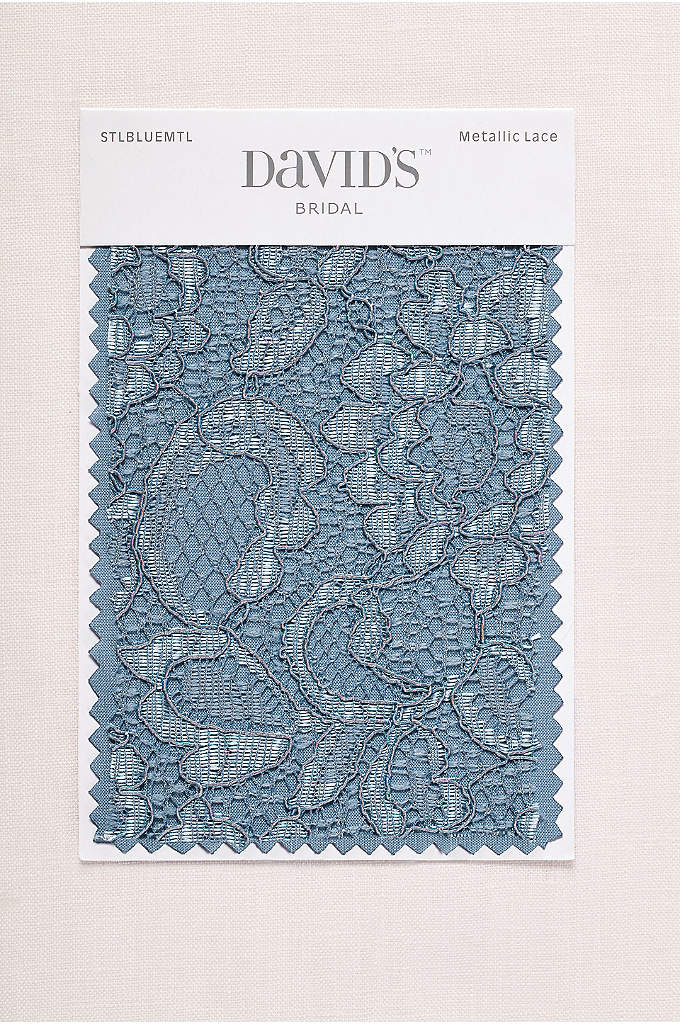 Steel Blue Metallic Fabric Swatch - Available in all of David's Bridal's exclusive colors,
