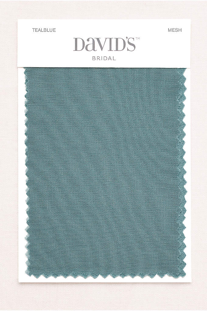 Teal Blue Fabric Swatch - Available in all of David's Bridal's exclusive colors,