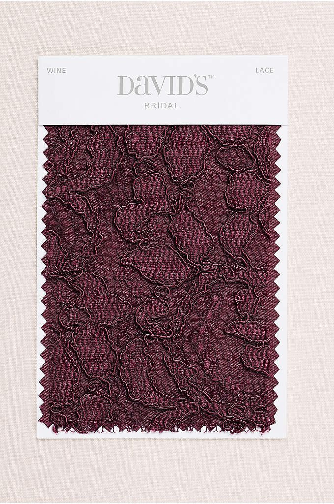 Wine Fabric Swatch - Available in all of David's Bridal's exclusive colors,