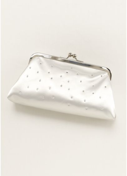Dyeable Sprinkle Crystal Clutch - Wedding Accessories