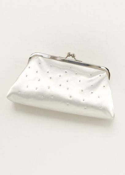 Dyeable Sprinkle Crystal Clutch EX82781