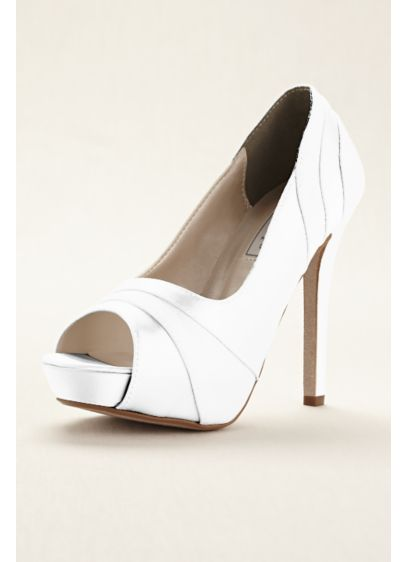Touch Ups White (Emmy Dyeable Platform Pump by Touch Ups)