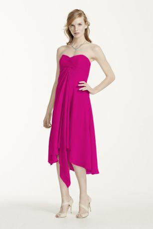 Strapless Chiffon Short Dress Style F12284 - Dress FA