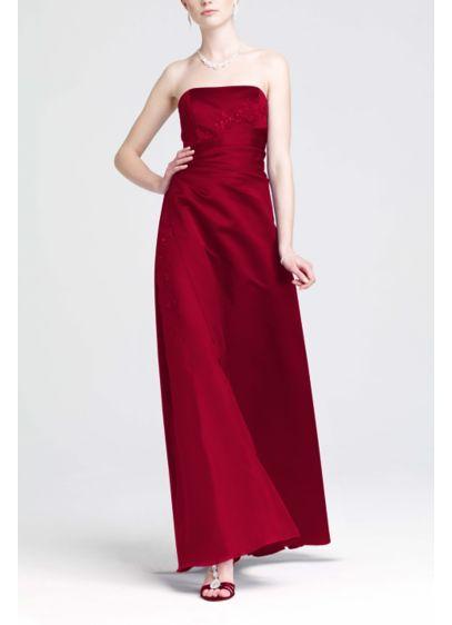 Long Purple Structured David's Bridal Bridesmaid Dress