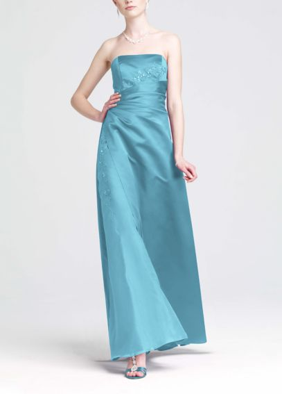 Satin and Organza Gown with Beaded Inset F12385
