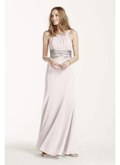 Long Purple Soft & Flowy David's Bridal Bridesmaid Dress