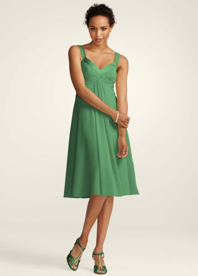 Short Sleeveless Chiffon Dress with Satin Straps F12899