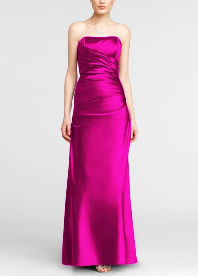 Strapless Ruched Satin Ball Gown F13974
