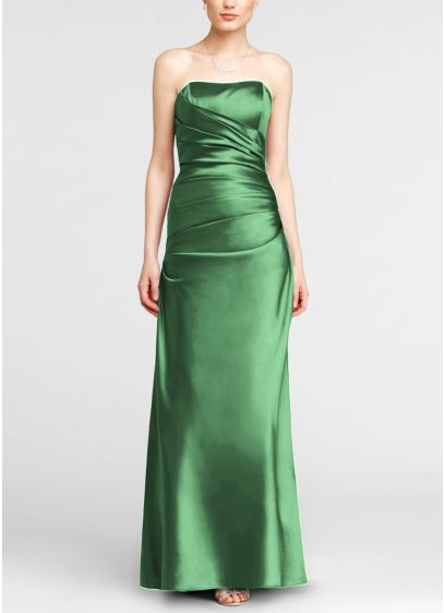 Long Green David's Bridal Bridesmaid Dress